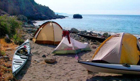 Camping on Catalina Island isn't free but it's quite affordable
